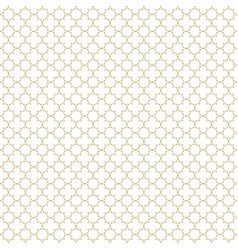 white and gold seamless pattern background vector image