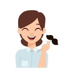 Woman emoji face vector image