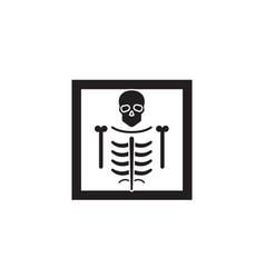 x-ray black concept icon x-ray flat vector image