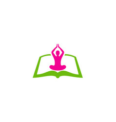 yoga book logo icon design vector image