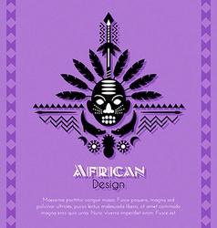 African Tribal Ethnic Art Background vector image vector image