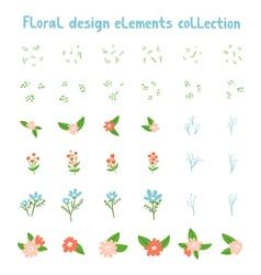 Decorative floral design elements collection vector