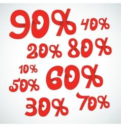 discount percents vector image