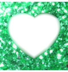 Green frame in the shape of heart EPS 8 vector image vector image