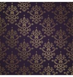Dark Vintage Seamless Wallpaper vector image