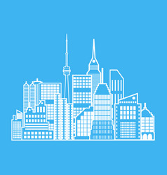 Modern city view cityscape vector