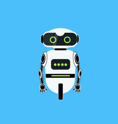 robot cartoon robotic character realistic icon vector image