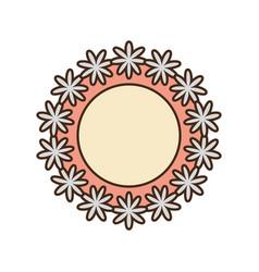romantic label flowers decoration vector image