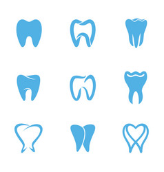 teeth white icon vector image