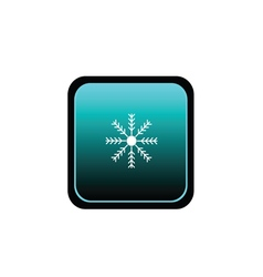 button of snowflake weather vector image vector image