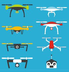 drones set vector image