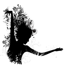 Floral Dancing Lady vector image vector image
