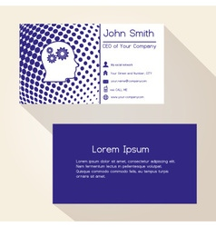 blue abstract dots business card design eps10 vector image vector image