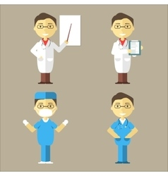 Doctor Nurse and Surgeon vector image