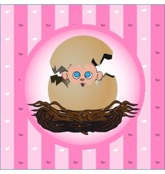 newborn girl vector image