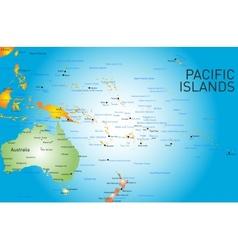Pacific islands map vector