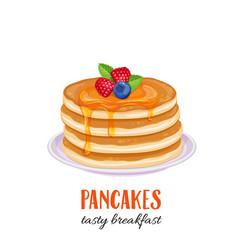 pancakes vector image