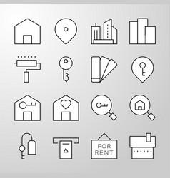 Real estate thin line icon vector