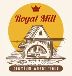 royal mill banner design vector image vector image