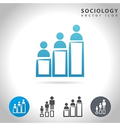 sociology icon set vector image vector image