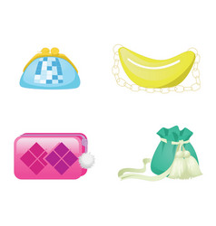 trendy handbags female accessory fashion bags vector image