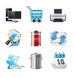 web icons | bella series 2 vector image