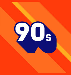 90s logo design 1990s sign with long shadow vector