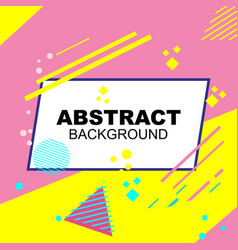 Abstract background in pink and yellow vector