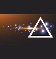 abstract white frame in triangle vector image