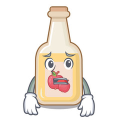 Afraid apple cider in character shape vector