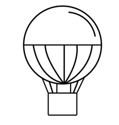 Air baloon icon vector