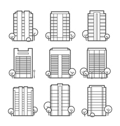 apartment building icons vector image