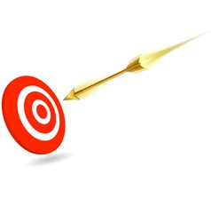 Arrow on target vector