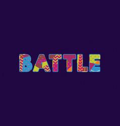 battle concept word art vector image