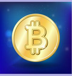bitcoin money virtual business coin financial vector image