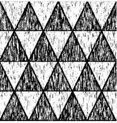 black grunge pattern of triangles vector image