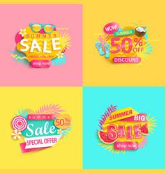 Bright summer sale banner vector