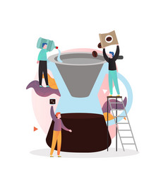 Chemex coffee concept for web banner vector