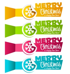 Christmas Banners with Snowflakes vector image