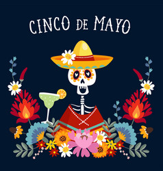 cinco de mayo greeting card invitation vector image