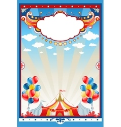 Circus tent background vector