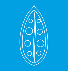 Cocoa pod icon outline style vector