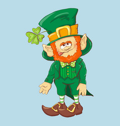 collection of leprechaun for saint patricks design vector image
