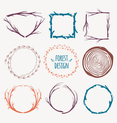 colorful decorative set different frames vector image