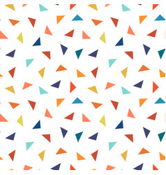 colorful geometric seamless pattern with triangles vector image