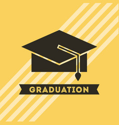 congratulations grad celebration card vector image
