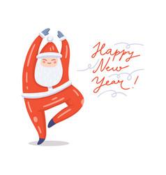 dancing santa vector image