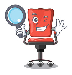 detective cartoon desk chair in the office vector image
