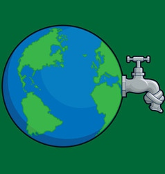 Earth Water Problem vector image vector image