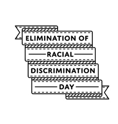 Elimination of racial discrimination day emblem vector